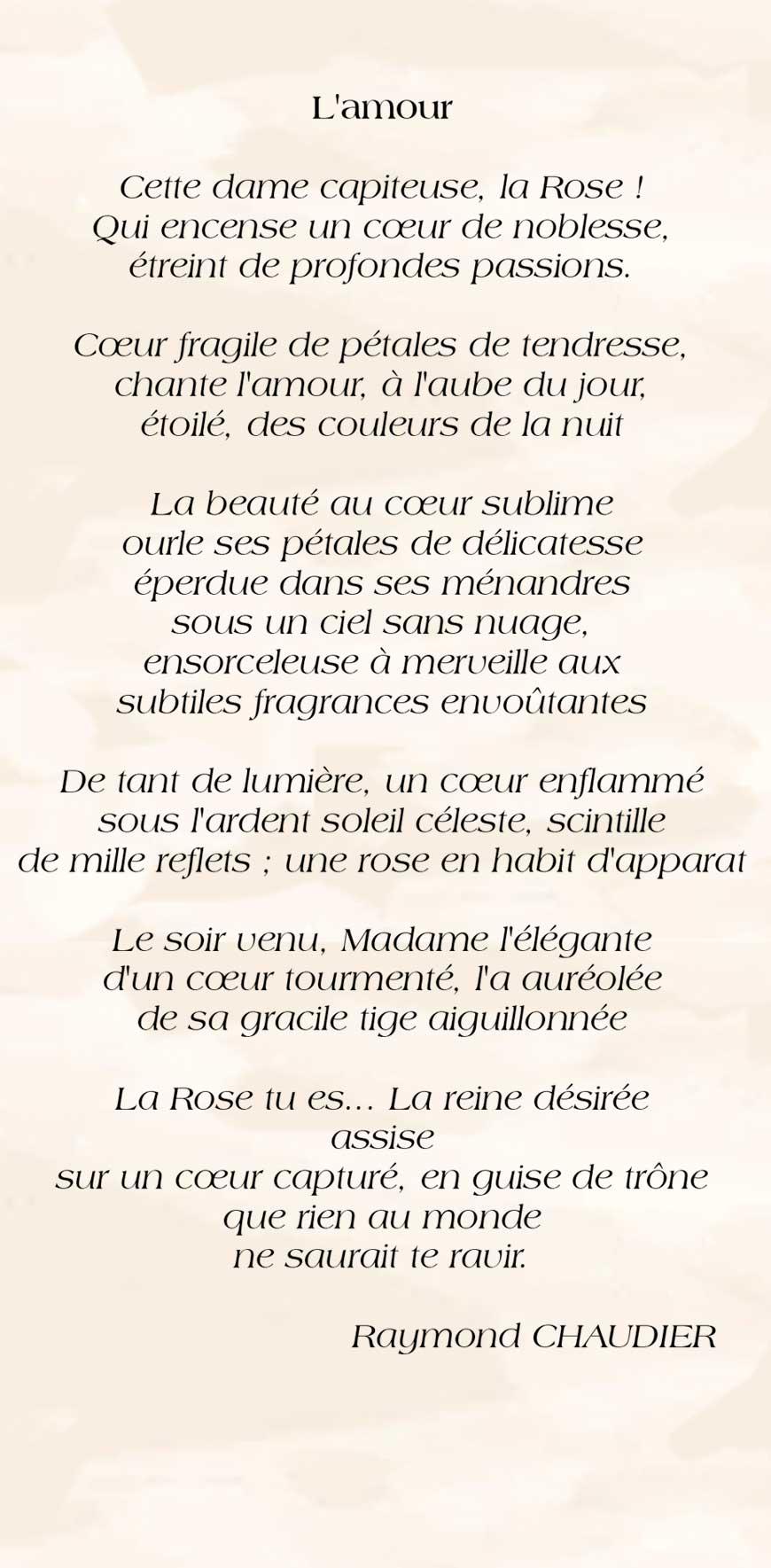 L'amour - Raymond Chaudier